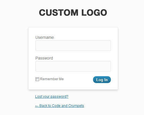 Custom WordPress Login Logo